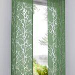 японские шторы зеленые