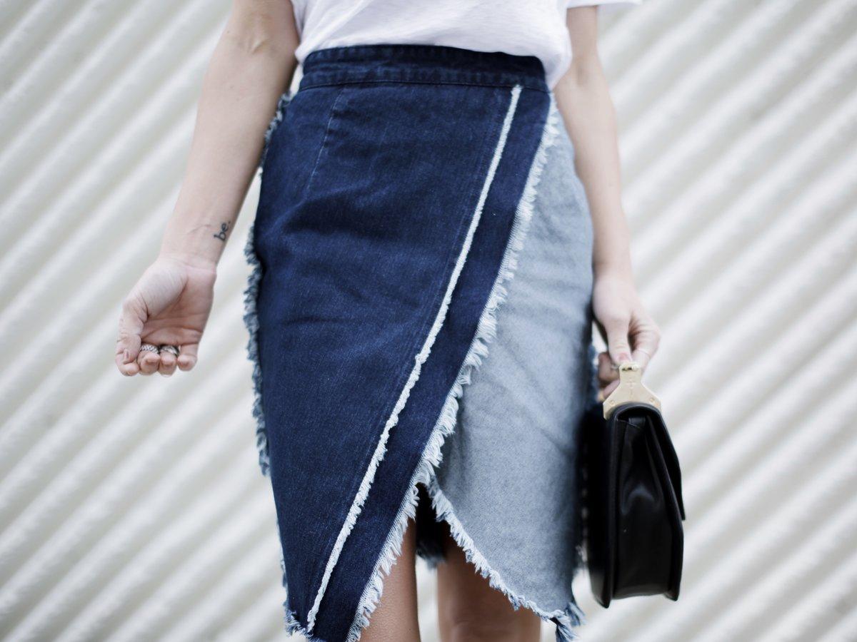 юбка из джинсов фото