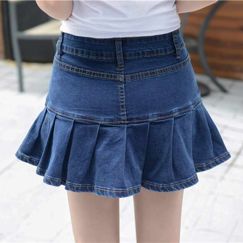 юбка из джинсов клеш фото