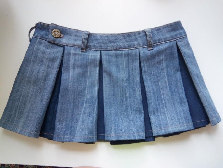 юбка из джинсов клеш