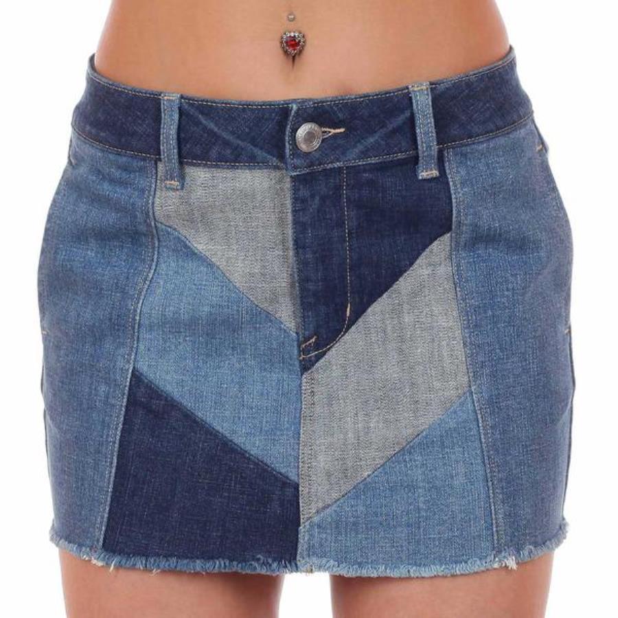 юбка из джинсов пэчворк