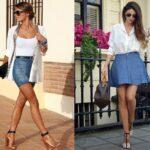 юбка из джинсов своими руками декор идеи