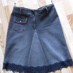 юбка из джинсов своими руками отделка