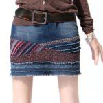 юбка из джинсов своими руками идеи отделки