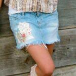 юбка из джинсов своими руками оформление фото