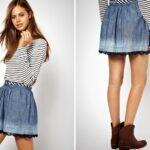юбка из джинсов своими руками идеи оформления