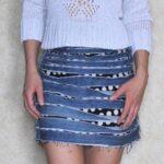 юбка из джинсов своими руками варианты