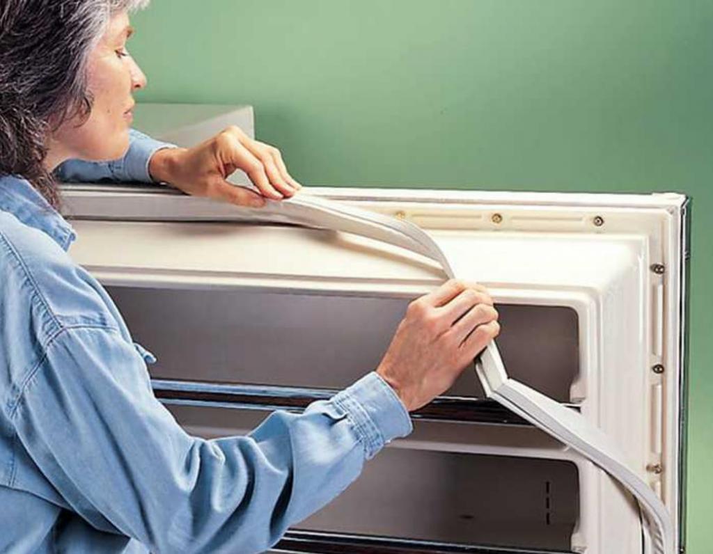 замена уплотнителя двери в холодильнике