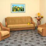 замшевый диван желтый