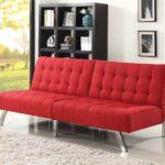 замшевый диван красный