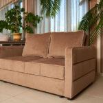 замшевый диван красивый