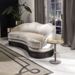замшевый диван модный