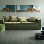 замшевый диван зеленый