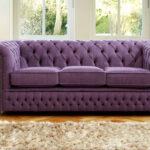 замшевый диван фиолет