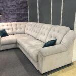 замшевый диван белый