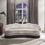 замшевый диван светлый