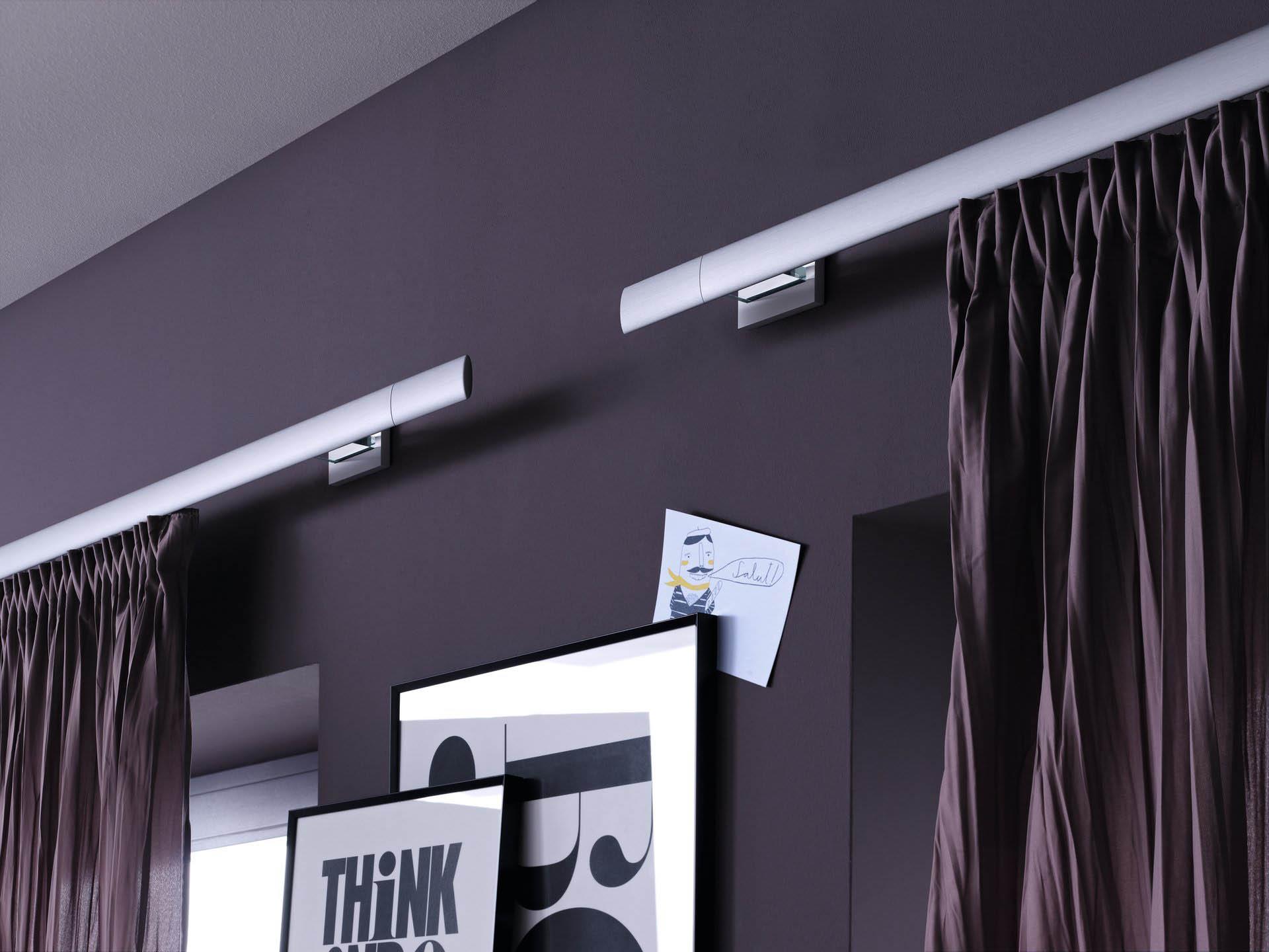 шторы на профильном карнизе алюминиевом