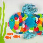 аппликации из салфеток рыбка