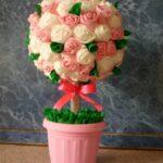 аппликации из салфеток роза