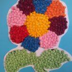 аппликации из салфеток цветок