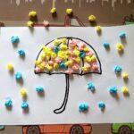 аппликации из салфеток зонт