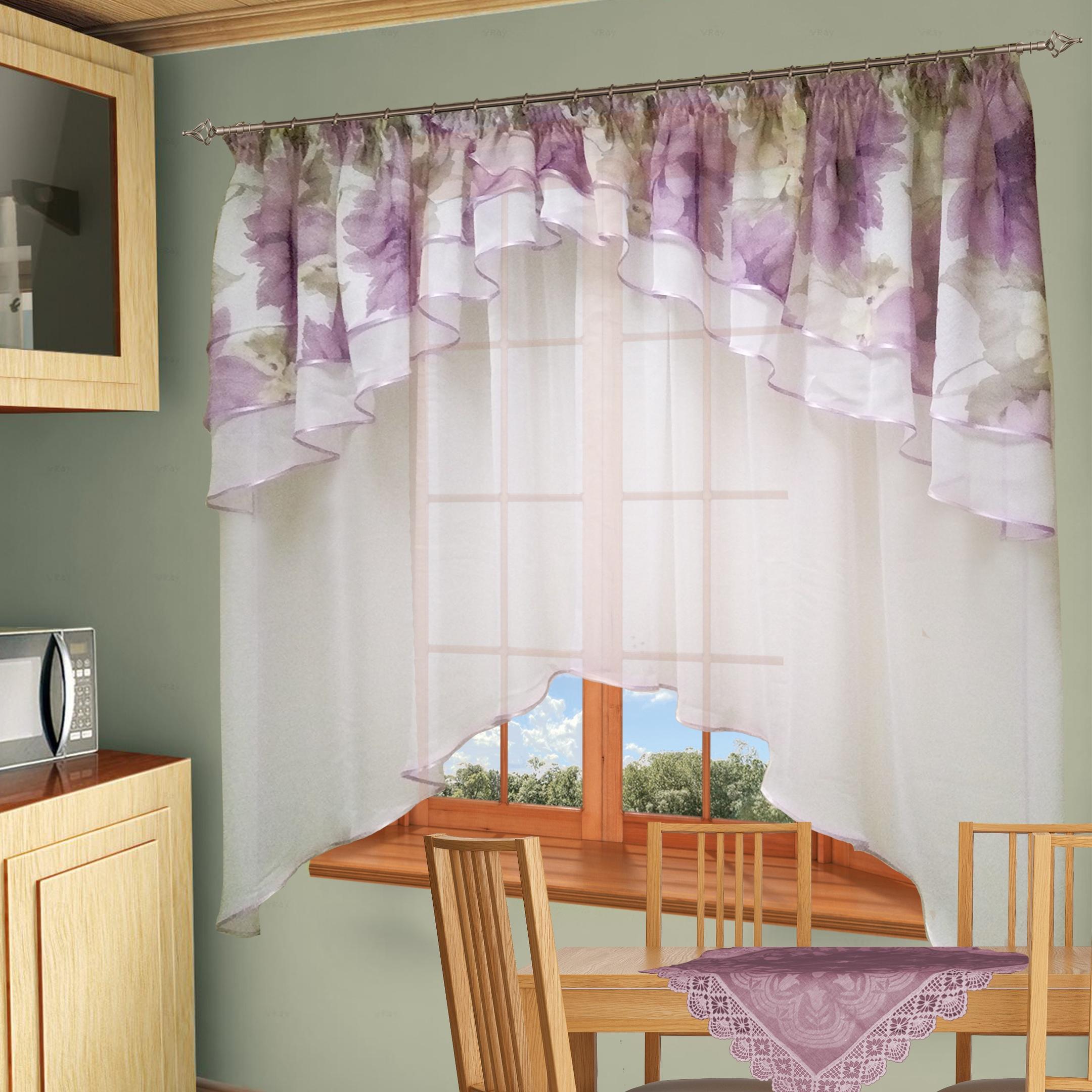шторы для кухни фото картинки фиолетовый лук