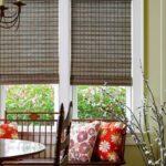 узкие бамбуковые шторы