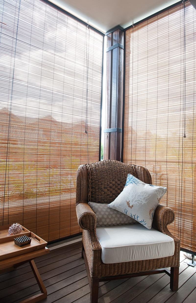 бамбуковые шторы закрытые