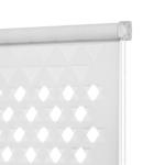белые рулонные шторы перфорация