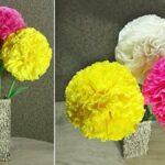 цветы из салфеток декор