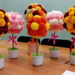 цветы из салфеток декор фото
