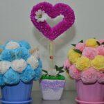 цветы из салфеток виды фото