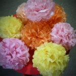 цветы из салфеток идеи фото