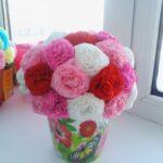цветы из салфеток виды дизайна