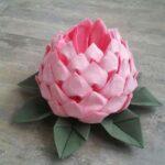 цветы из салфеток виды оформления