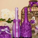 декор бутылки фиолетовый
