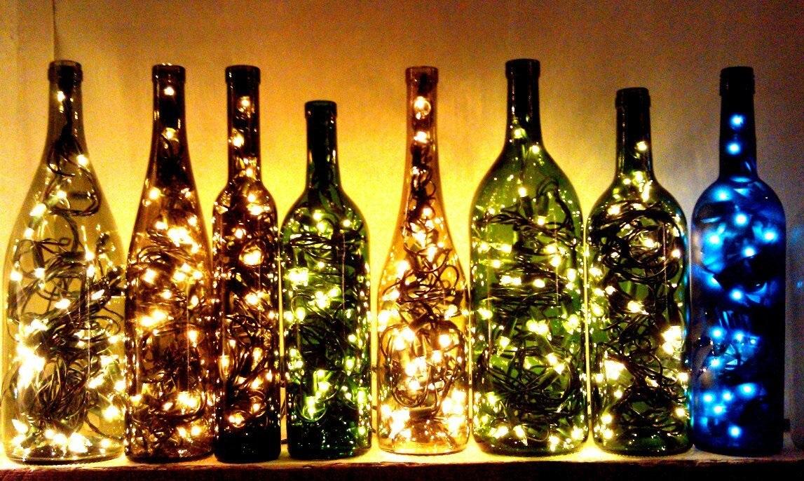 бутылка с лампочками