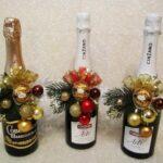 декор бутылок новогодний
