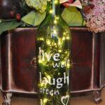 декор бутылки с надписью