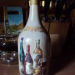 декор бутылки рисунком