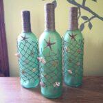 декор бутылки морской звездой