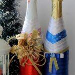 декор бутылки новогодний