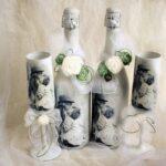 декор бутылки белы йна свадьбу
