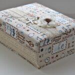 декор коробки рисунками