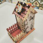 декор коробки домик