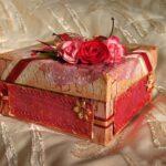 декор коробки цветами