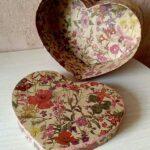декор коробки в форме сердца