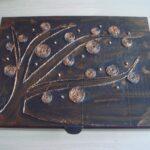 декор коробки с деревом
