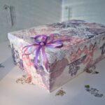 декор коробки бантом