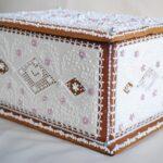декор коробки белая